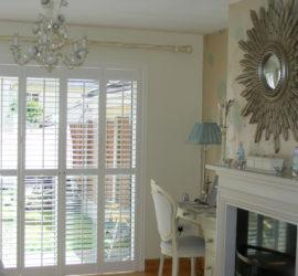 Plantation Shutters in French Doors, Ireland