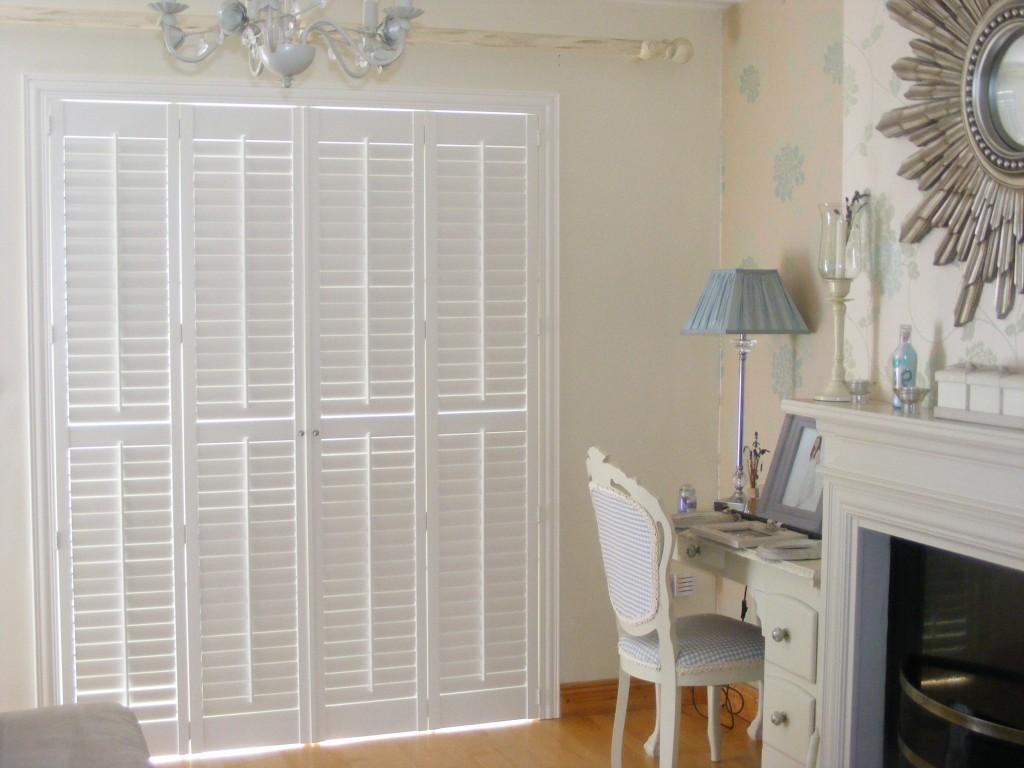 Tracked Plantation Shutters - Closed