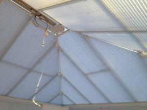 Conservatory Ceiling Blinds - close up