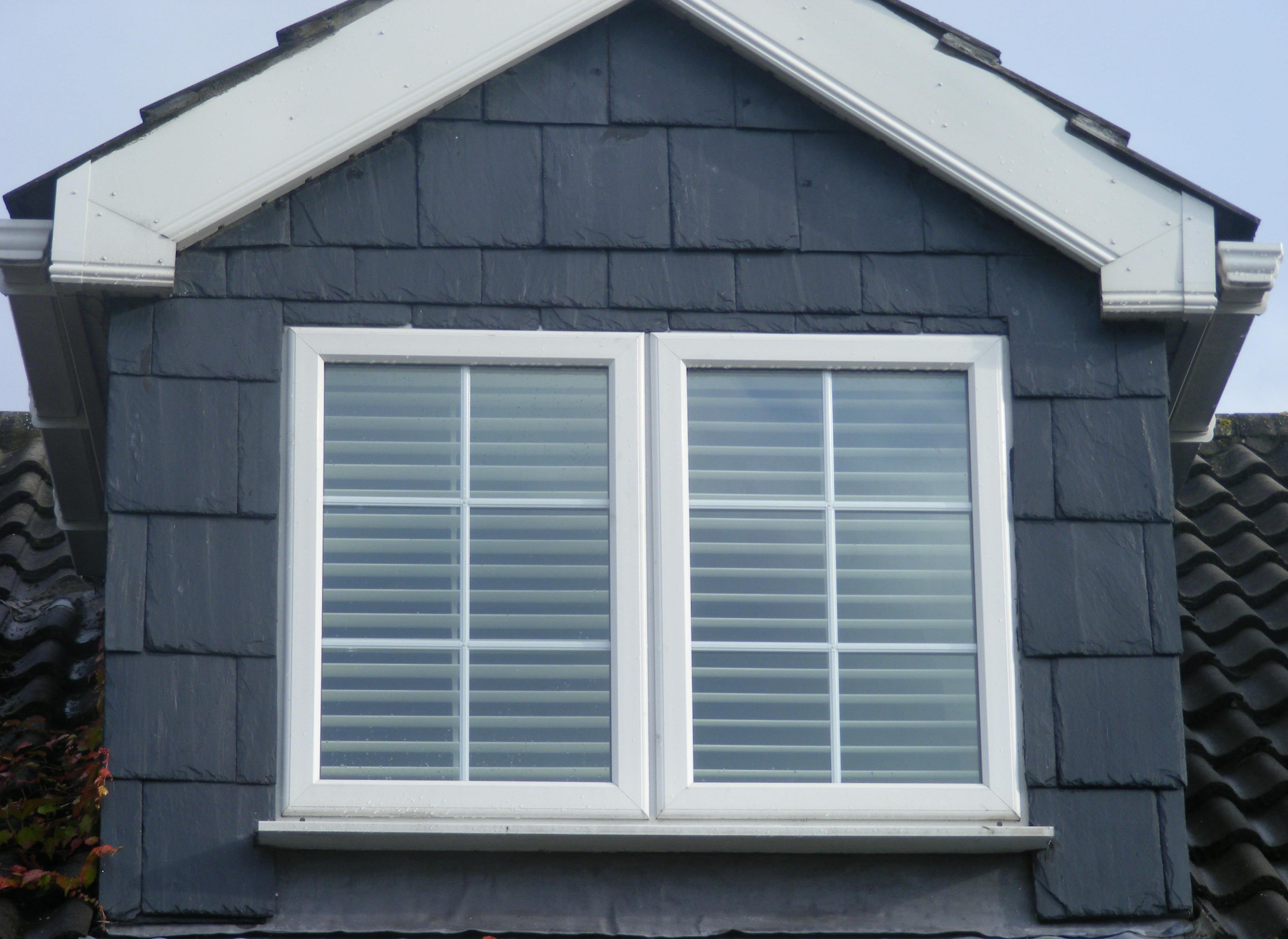 Clontarf Dormer Window Plantation Shutters Outside
