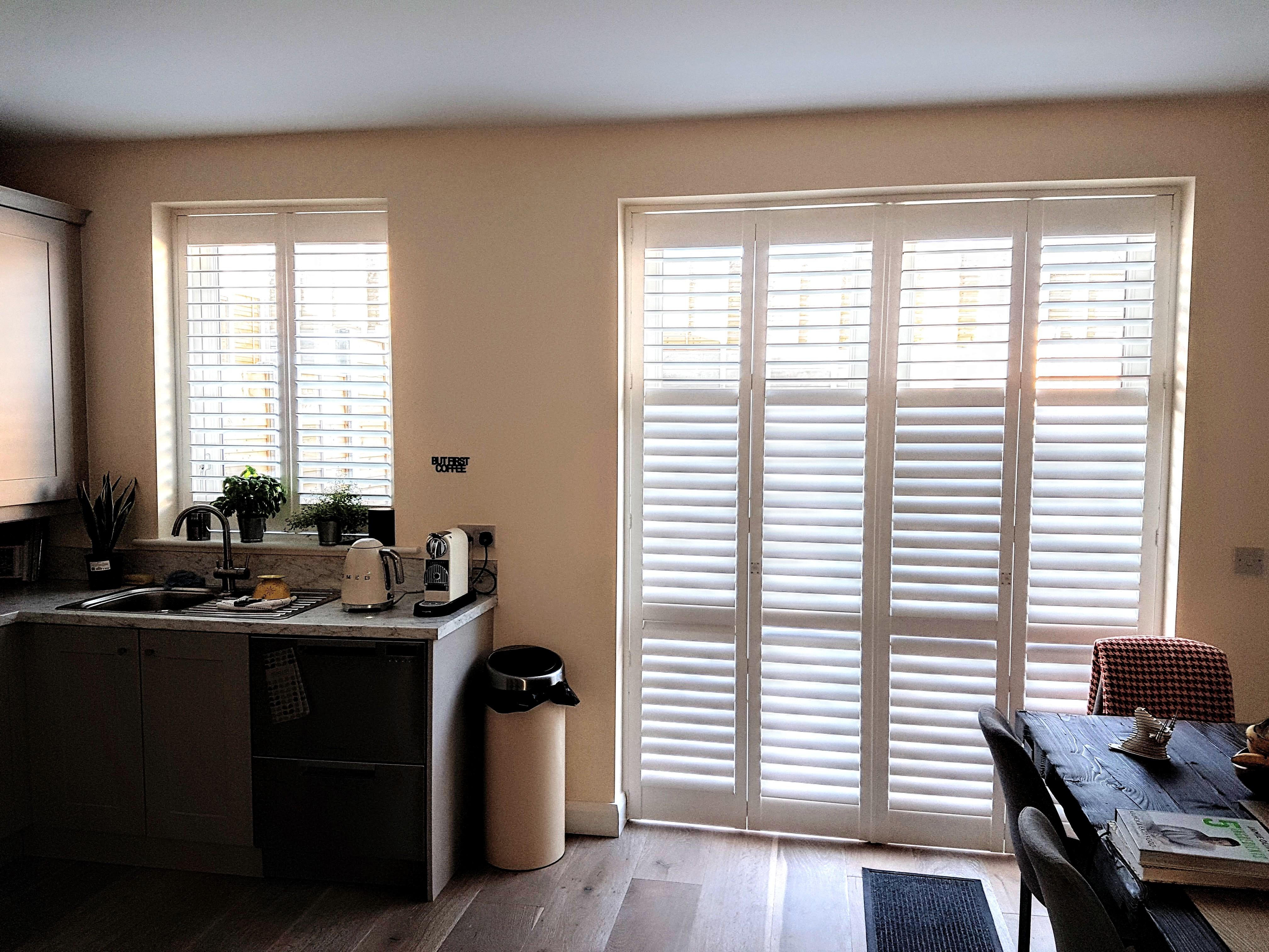 kitchen plantation shutters doors