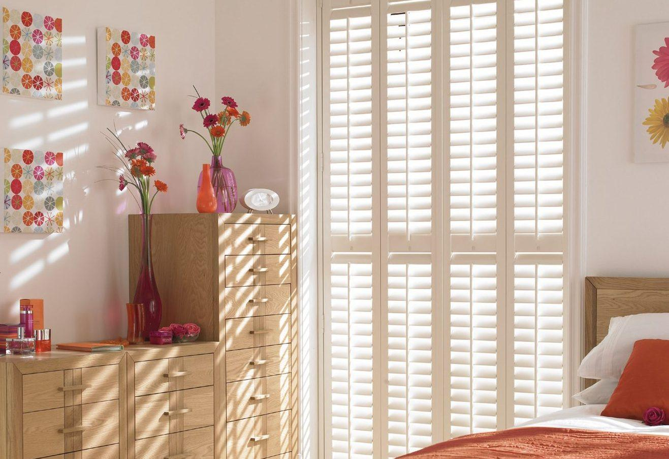 full height bedroom plantation shutters