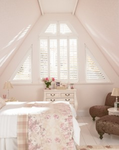 Silk White Grovewood Bedroom Shutters by Shutters Of Dublin