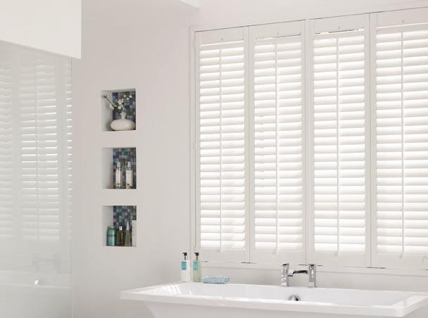 Bathroom Waterproof Plantation Shutters in Vienna