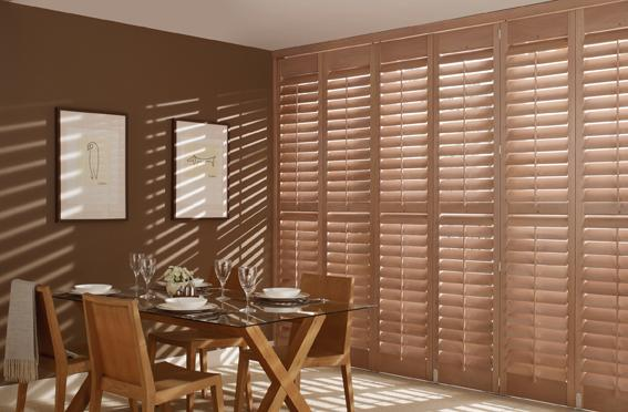 Tracked Plantation Shutters in Grovewood