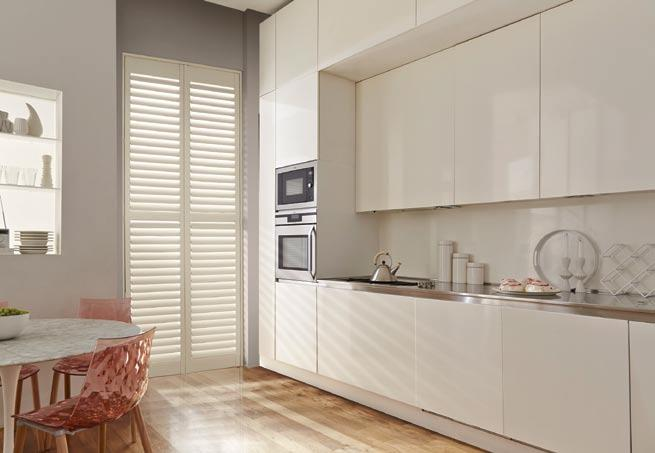 Kitchen - French Door Plantation Shutters in Marchwood