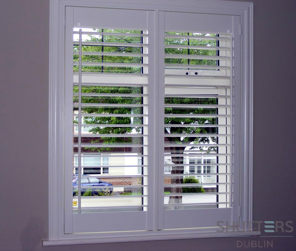 Open Louvre Plantation Shutters