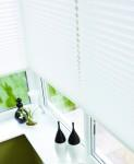 Ivory Pleated Blinds